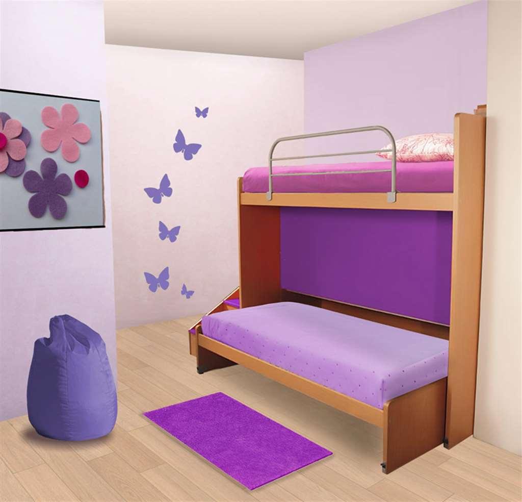 Letto a castello scorrevole con letto indipendente ...